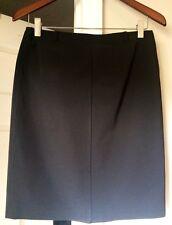 Prada Skirt Chic Classic Black Straight Mini Pencil Skirt Back Slit Sz 42 Italy