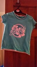 Reebok age 8 girls tshirt torquoise