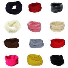 Womens Mens Winter Warm Circle Knit Scarves Shawl Wrap Snood Scarf Neck Fashion