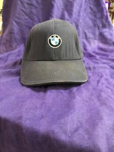 BMW Lifestyle Baseball Cap Strapback Hat Navy Blue Embroidered Logo