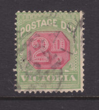 New listing Victoria: 2d Postage Due Sg D28? Wmk V Over Crown Used