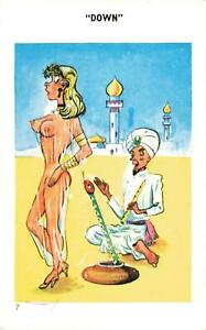 SAUCY SNAKE CHARMER DOWN VINTAGE SAPPHIRE CARD