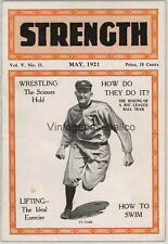 SCARCE Strength Magazine MAY 1921 TY COBB Detroit Tigers Baseball cover COMPLETE