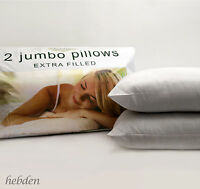 Pack of 2, 4 or 8 Extra Filled Jumbo Bounce Back Bed Pillows Hotel Quality