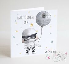 STAR WARS STORMTROOPER Personalised Birthday Card - Dad Brother Friend Son Uncle