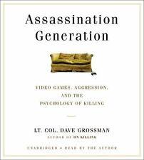 New Audio Book Assassination Generation Video Games Aggression Killing Grossman