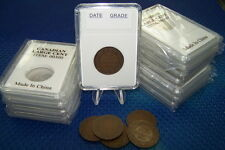 100 coin holders Slab Style for Can/NFDL Large cent and other US Coins* 25.4 mm*