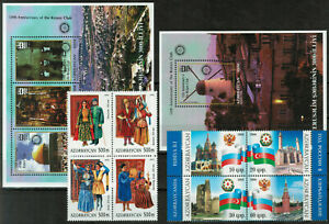Azerbaijan Selection of Two Miniature Sheets and Eith Stamps MNH #4928