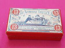 """* tres ancien ; Jeu """" Le NOMBRE TREIZE """"  debut XXÈME ; manque 1 carton de jeu ."""