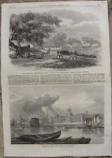 1857 Antique Prints - CANADA - Ottawa, Halifax, Kingston, Lennoxville, Montreal