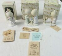 Lot Of Three Precious Moments Figurines E-1375/B,E-1372/G,E-3108 1977,78,79