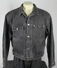 Polo Ralph Lauren Polo Vtg USA Jean Denim Trucker Jacket Black Mens XL