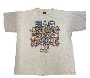 Vtg 92 Olympics Salem Sportswear DREAM TEAM Barcelona Single Stitch Shirt XL USA