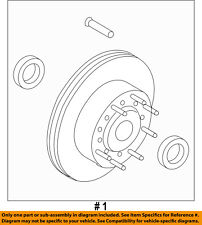 FORD OEM 08-16 F-350 Super Duty Front Brake-Disc Rotor CC3Z1102A