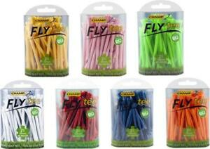 """Champ Zarma 30 Fly Golf Tees 2 3/4"""" 70mm Blue Red Yellow White Green Orange Pink"""