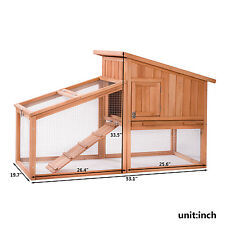 Merax Wooden Pet House Rabbit Bunny Wood Hutch House Chicken Coops Rabbit Cage