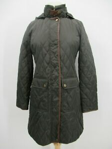 P4142 VTG Lauren Ralph Lauren Women's Quilted Hood Coat Jacket Size S