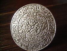 prächtig verzierter Statement Ring Designer Leonardi Arte alt silber 4 cm rund