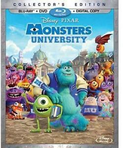 Monsters University Blu-ray/DVD New Disney Movie NEW Sealed, Free Shipping