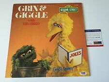 CAROLL SPINNEY signed VINYL RECORD LP GRIN & GIGGLE BIG BIRD SESAME STREET PSA