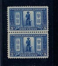 1925 Lexington 5¢ Sc #619 pair MINT Never Hinged OG