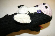Special Ed Delux COW MITTENS knit ADULT Flc LINED costume puppets animal shaped