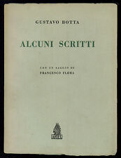 BOTTA GUSTAVO ALCUNI SCRITTI ARIEL 1952 DEDICA A CARLO MUNARI CRITICO D'ARTE