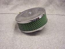 Chrome air filter with reusable foam element VW Beetle & Type 2