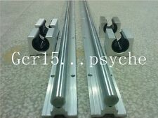2set SBR16-700MM 16MM FULLY SUPPORTED LINEAR RAIL SHAFT+ 4 SBR16UU BEARING BLOCK