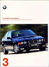 BMW 3 SERIES E 36 SALOON INC. SE AND M3 EVOLUTION.  SALES BROCHURE 1997.