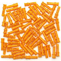 Lego 72x Genuine Technic Bright Orange Pegs Friction Snap Axle 32054 6143033 NEW