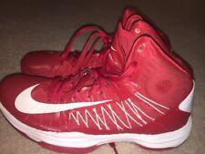 free shipping 0fcb3 c1aaf Nike Hyperdunk Lunarlon Basketball Shoes Men s Size 9.5 Red white 2012