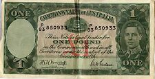 1942 Australia One Pound Note - Commonwealth of Australia  MM650