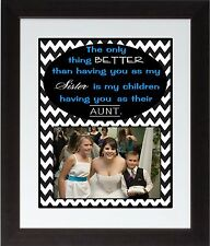 Custom Personalized Family Aunt Sister Quote Gift Wall Art Print Poster Gift