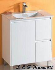 Ultra Slim Bathroom Vanity with Ceramic Basin and Polyurethane Door750