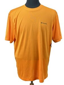 Columbia Men's Caughlin Creek Shirt Size L Orange Lightweight Athletic Top New