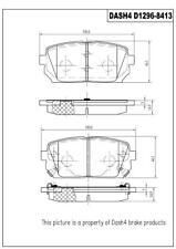 Disc Brake Pad Set-CERAMIC PADS Rear Dash 4 Brake CD1296 fits 07-12 Kia Rondo