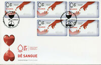 Portugal 2019 FDC Give Blood Solidarity 5v S/A Cover Label Medical Health Stamps