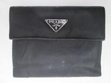73a549e0171f33 -AUTHENTIQUE portefeuille/porte-monnaie PRADA toile et cuir TBEG vintage