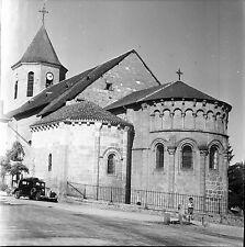 AHUN c.1950 - Auto Traction  L'Église Creuse - Négatif 6x6 - N6 NAQ18