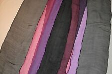 "GERRY WEBER chiffon black MULTI-COLOR pink STRIPPED purple LONG 95"" SILK SCARF"