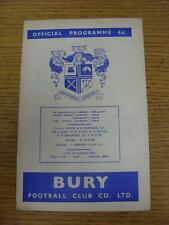 04/09/1964 Bury v Swansea Town  (staples removed). This item is in very good con