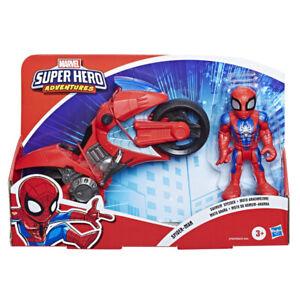 Marvel Super Hero Adventures Figure & Motorcycle Playskool