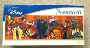 DISNEY VILLAINS JIGSAW PANORAMA PUZZLE 750 PIECE ORIGINAL 2007