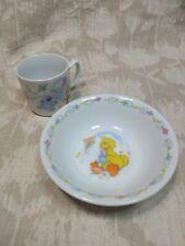 """Vintage 1986 Newcor Sesame Street Porcelain Child Dinner Plate """"Flying a Kite"""""""