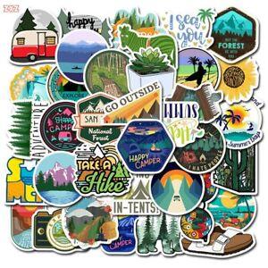 50pcs Camping Stickers Wilderness Hiking Sticker Outdoors Hunt Lot Sticker Bomb