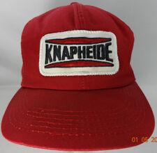 Vtg Knapheide Red Snapback Patch Hat Kproducts Manufacturing Cap