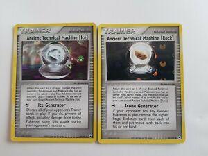 Ancient Technical Machine Ice & Rock Pokemon Holo Cards TCG EX Hidden Legends