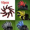 10pcs Number Print Long Neck Golf Hybrid Club Iron Head Covers With Zipper