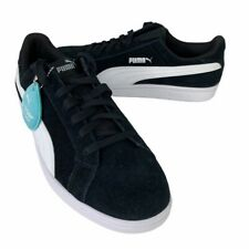 Puma Mens Smash Tennis Shoes Black Lace Up Low Top Round Toe 370205 01 8.5 New